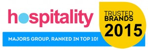 Hospitality Trusted Brands 2015 - Majors Group - Top 10