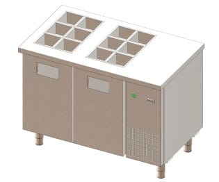 Refrigerated Topping Counter - Gemm TYO12