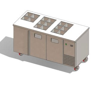 Refrigerated Topping Counter - Gemm TYO16