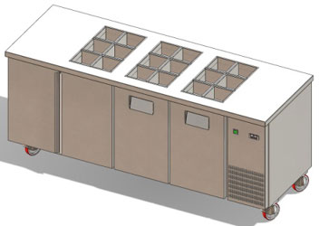 Refrigerated Topping Counter - Gemm TYO20