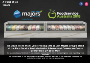 Majors Group Food Service Australia 2018